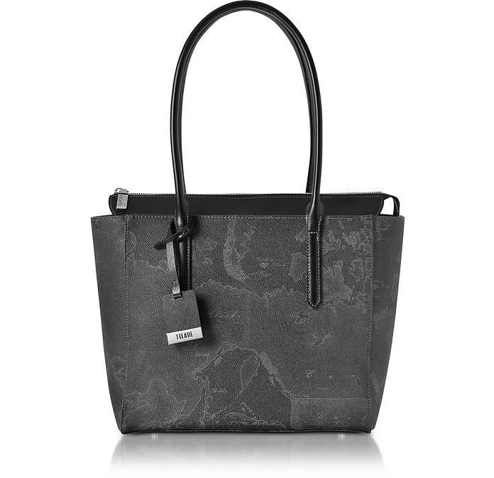 ALVIERO MARTINI 1A CLASSE MEDIUM GEO BLACK TOTE