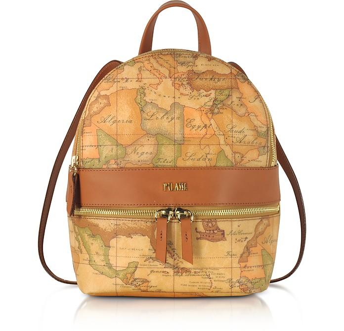 Geo Classic Coated Canvas Backpack - Alviero Martini 1A Classe