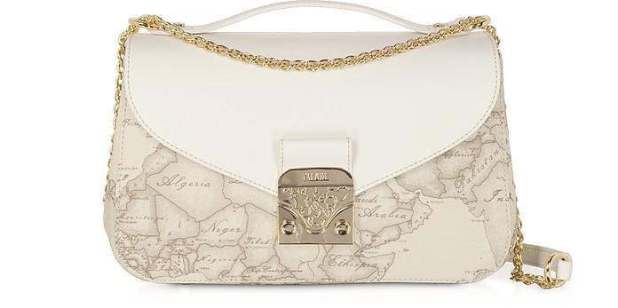Jolie Coated Canvas & Leather Shoulder Bag - Alviero Martini