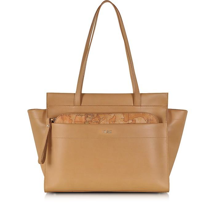 Kangaroo Large Leather Shopping Bag - Alviero Martini 1A Classe