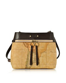 Vanity Dark Brown Leather Shoulder Bag - Alviero Martini 1A Classe
