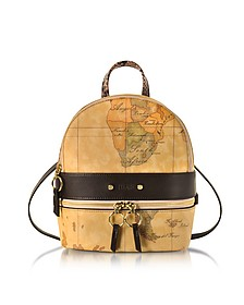 Vanity Dark Brown Leather Backpack - Alviero Martini 1A Classe
