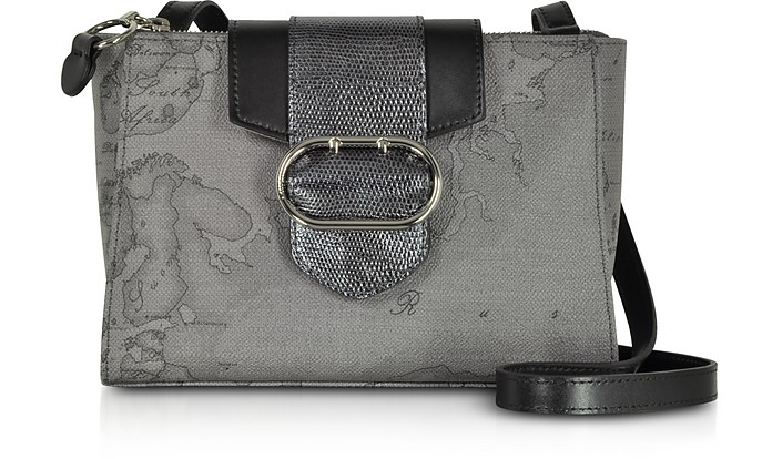 Wonder Geo Dark Grey Shoulder Bag - Alviero Martini 1A Classe