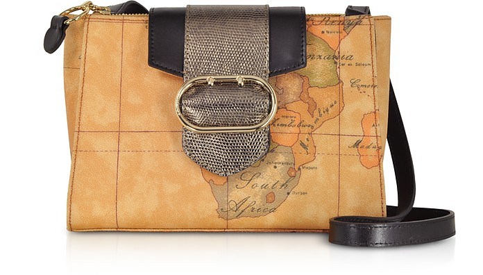ALVIERO MARTINI 1A CLASSE Wonder Geo Two Tone Shoulder Bag