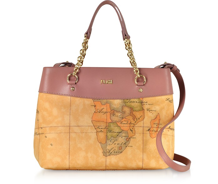 ALVIERO MARTINI 1A CLASSE The Goldie Geo Printed Coated Canvas Shoulder Bag