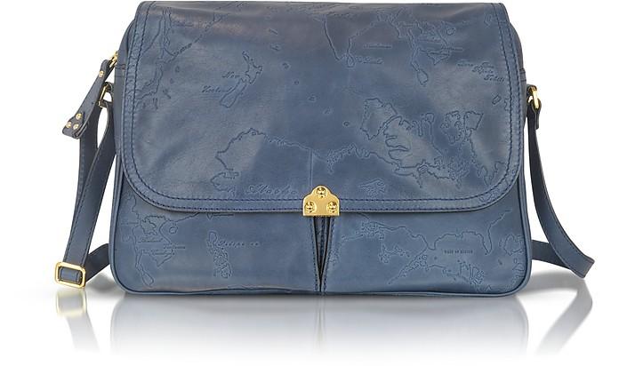 Geo Terracotta - Leather Satchel Bag - Alviero Martini 1A Classe