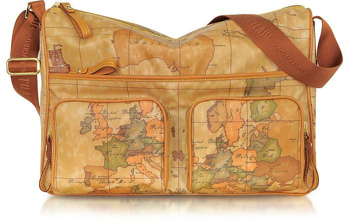 Large Geo Print Zippered Shoulder Bag - Alviero Martini 1A Classe
