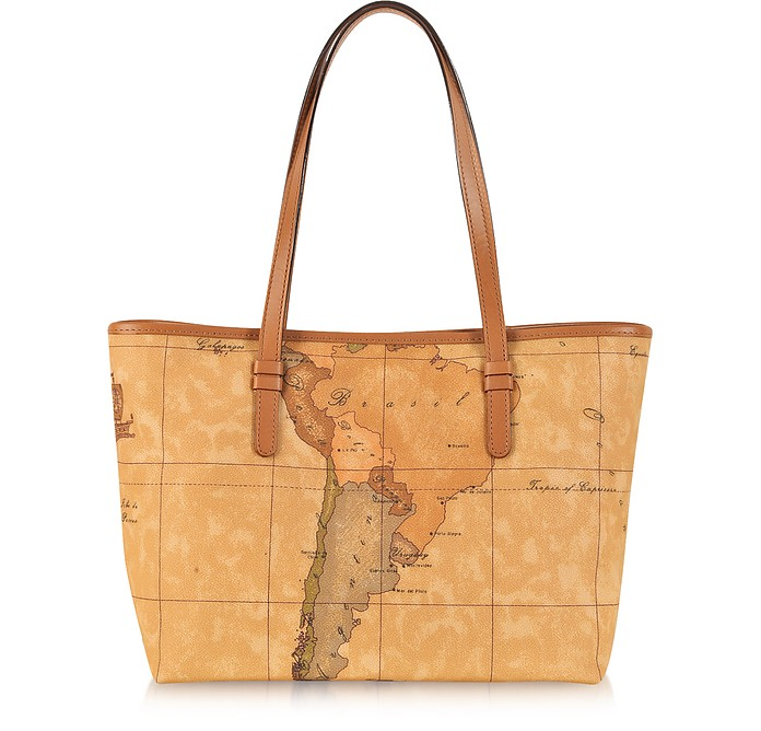 "1a Prima Classe - Geo Printed Medium ""New Basic"" Tote Bag - Alviero Martini 1A Classe"