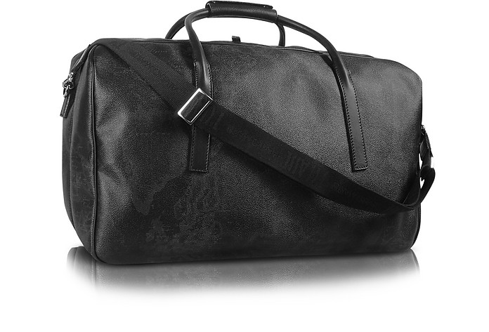 ALVIERO MARTINI 1A CLASSE 1A PRIMA CLASSE - GEO BLACK DOUBLE COMPARTMENT ZIP TRAVEL BAG