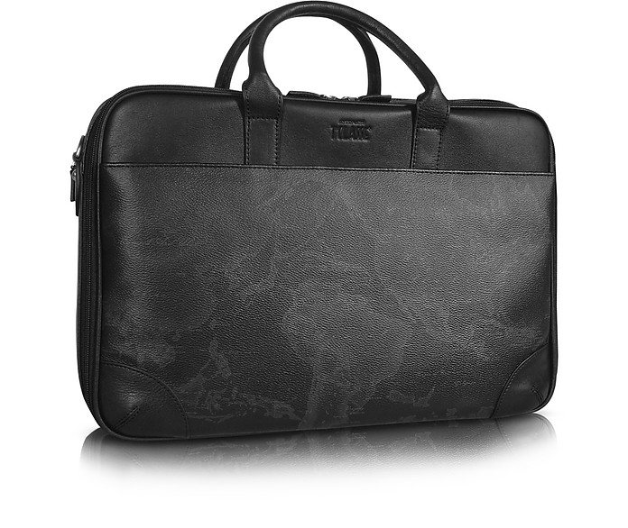 1a Prima Classe - Geo Black Laptop Briefcase - Alviero Martini 1A Classe
