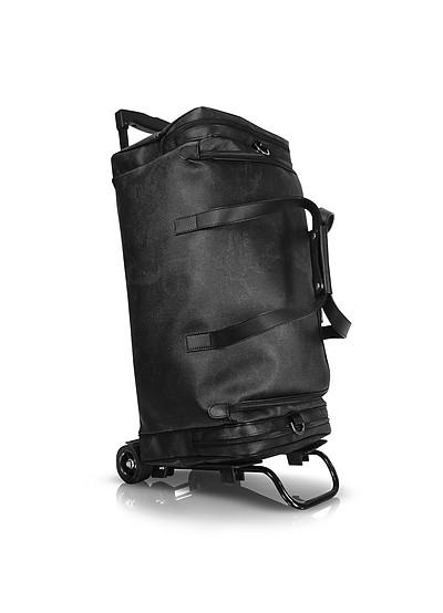 1a Prima Classe - Geoblack Duffel Travel Bag w/Wheels  - Alviero Martini 1A Classe