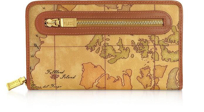 Brieftasche mit Rundum-Reißverschluss und Geoprint - Alviero Martini 1A Classe