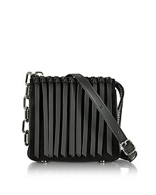 Black Leather Attica Flap Crossbody Bag w/Fringe - Alexander Wang