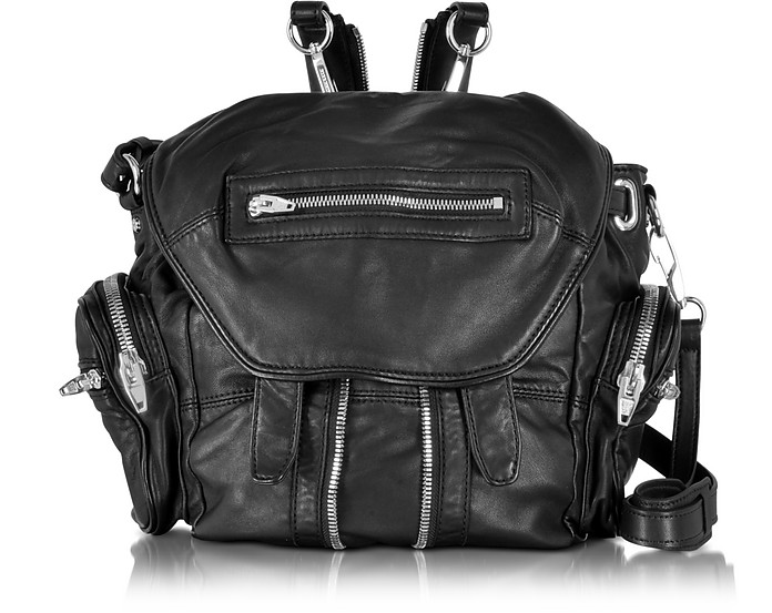 Black Washed Lambskin Marti Backpack - Alexander Wang