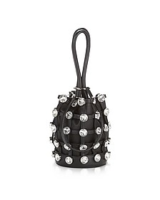 Roxy Mini Black Nappa Leather Bucket Bag w/Glass Studs - Alexander Wang