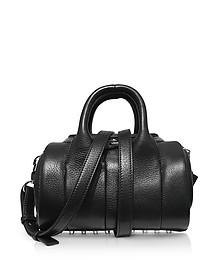 Mini Rockie Black Pebbled Leather Satchel Bag - Alexander Wang