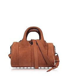 Mini Rockie Terracotta Pebbled Nubuck Satchel Bag - Alexander Wang