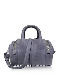 Mini Rockie Washed Denim Pebble Nubuck Satchel Bag - Alexander Wang