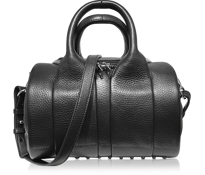 Rockie Black Pebbled Leather Satchel Bag - Alexander Wang