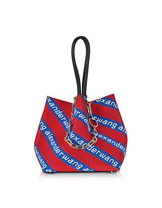 2655560db4 Kint Jacquard Logo Soft Striped Canvas Small Tote Bag - Alexander Wang
