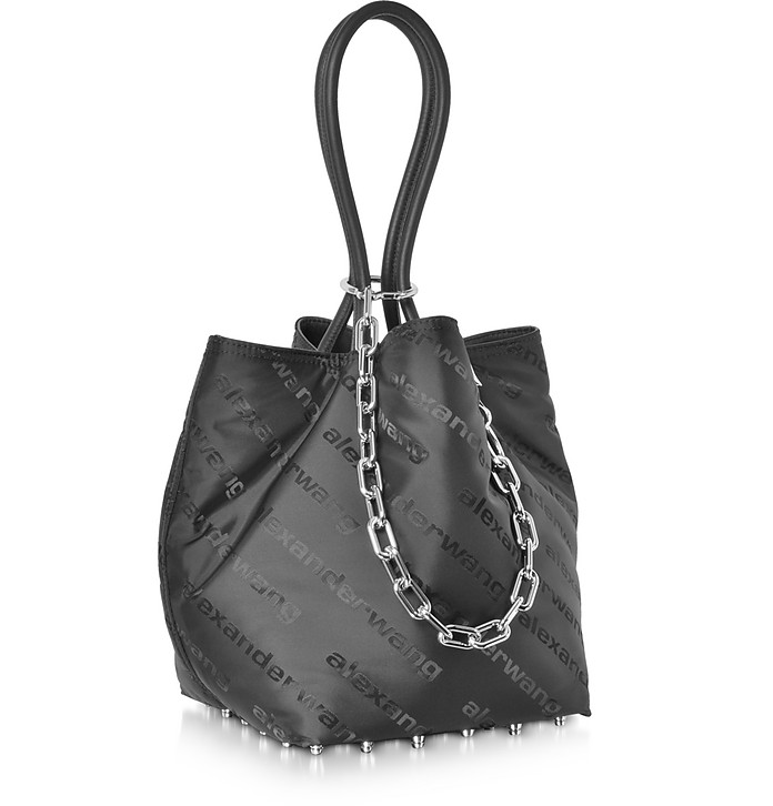 814d5eeb9d Alexander Wang Black AW Signature Roxy Soft Small Tote Bag at ...