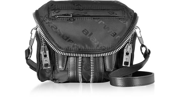 Micro Marti Black AW Jacquard Logo Shoulder Bag - Alexander Wang