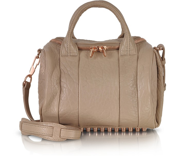 Rockie In Pebbled Latte With Rose Gold Hardware - Alexander Wang