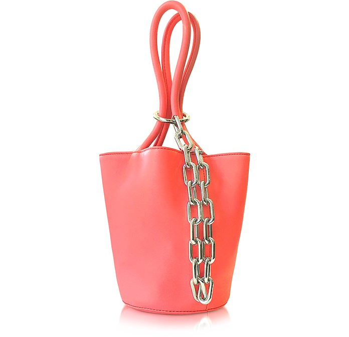 Fluo Coral Leather Roxy Mini Bucket Bag - Alexander Wang