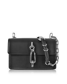 Hook Black Leather Medium Crossbody Bag - Alexander Wang