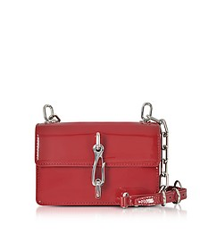 Hook Small Borsa con Tracolla in Vernice Lipstick Red - Alexander Wang