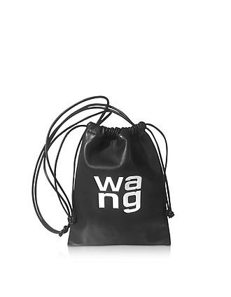 eeb437024262 Black Smooth Leather Ryan Mini Dustbag - Alexander Wang