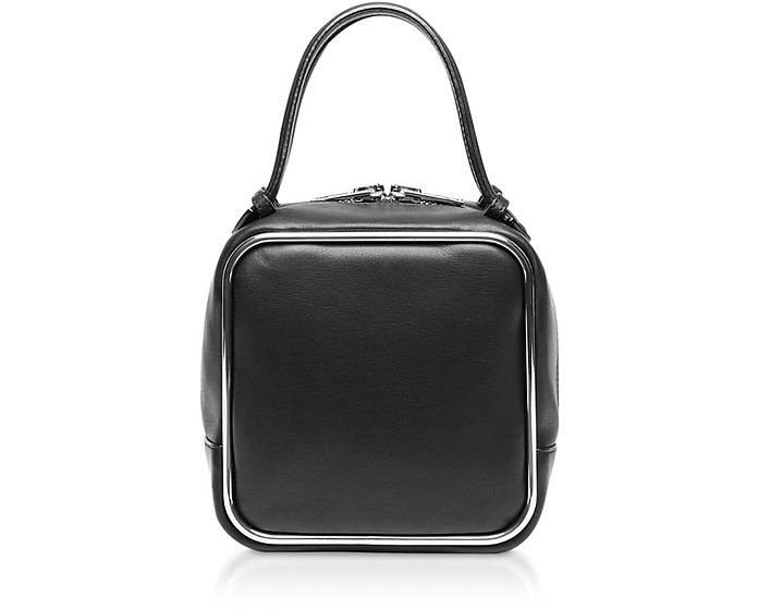 Black Supple Leather Halo Top Handle Satchel Bag - Alexander Wang
