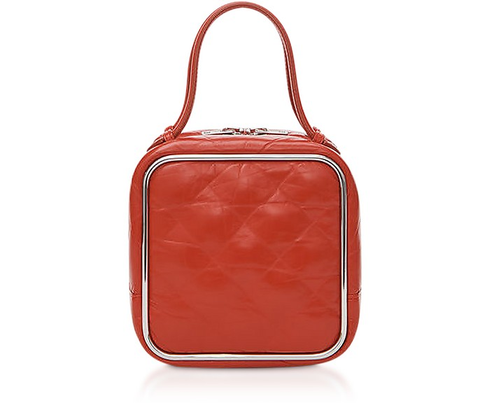 Red Quilted Leather Halo Top Handle Satchel Bag - Alexander Wang