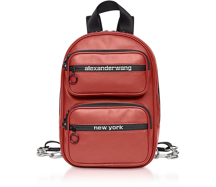 Red Matte Soft Nappa Leather Attica Medium Backpack - Alexander Wang