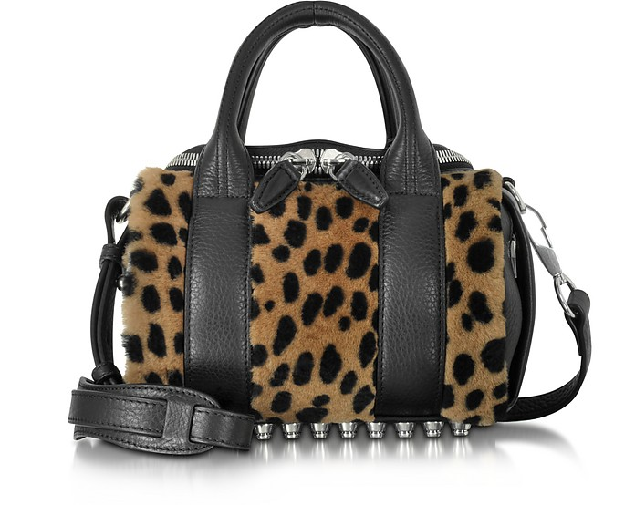 Mini Rockie Cheetah Printed Fur Satchel - Alexander Wang