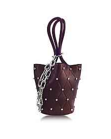 Roxy Ball Stud Beet Leather Mini Bucket Bag - Alexander Wang