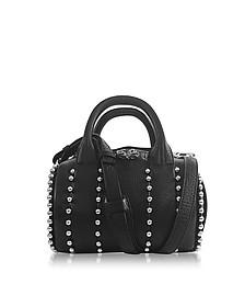 Mini Rockie Ball Studd Black Leather Satchel - Alexander Wang
