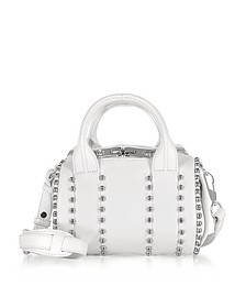 Mini Rockie Ball Studd White Leather Satchel - Alexander Wang