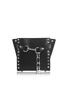 Attica Chain Black Leather Mini Satchel  - Alexander Wang