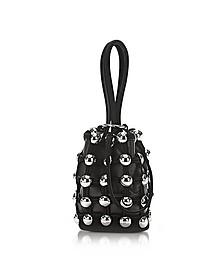 Dome Stud Roxy Black Suede Mini Bucket Bag - Alexander Wang