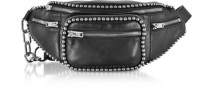 Alexander Wang Attica Soft Fanny Black Leather Belt Bag w Ball-chain ...