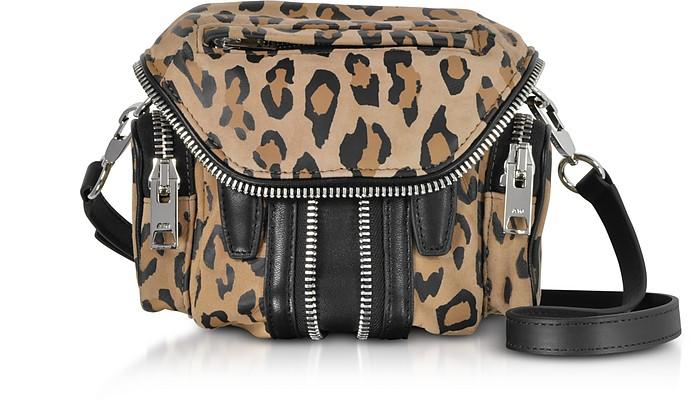 Leopard Printed Suede Micro Marti Shoulder Bag - Alexander Wang