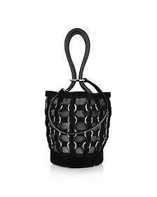 Roxy Mini Black Bucket w/Metal Rings Cage - Alexander Wang