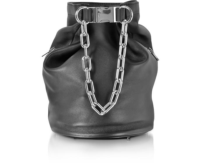 1e30d8413fa1 Alexander Wang Attica schwarze Bucket-Tasche aus Nappaleder - FORZIERI