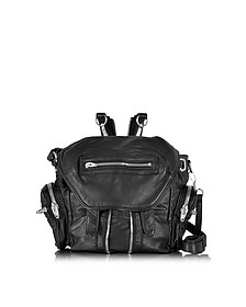 Mini Marti Black Washed Leather Backpack w/Silvertone Metal - Alexander Wang