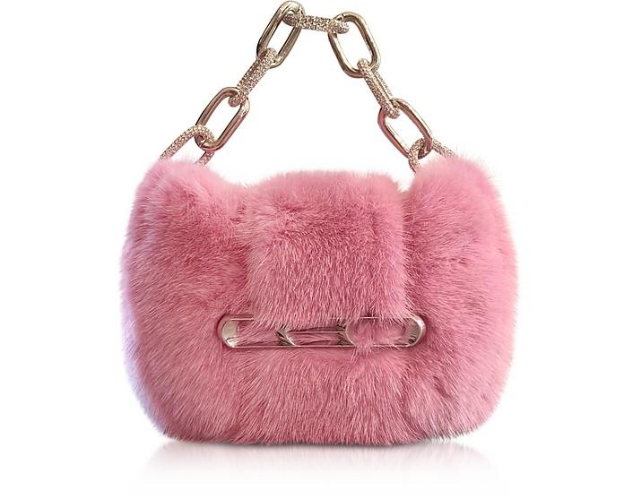 Fur Micro Mini Bag w/Chain Strap - Alexander Wang