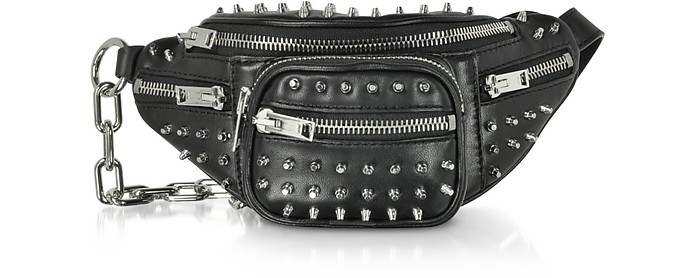 Alexander Wang Black Studded Attica Mini Fanny Xbody Belt Bag at ...