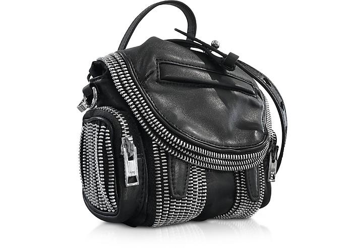 Alexander Wang Black Leather Micro Marti Zip Shoulder Bag at FORZIERI 89c294cd5fd2