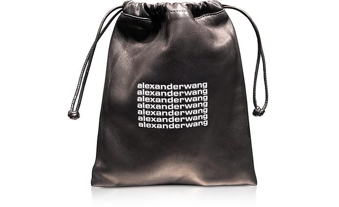 Black Lambskin Ryan Mini Dustbag - Alexander Wang