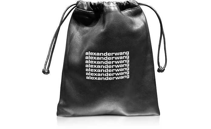 Black Lambskin Ryan Mini Dustbag - Alexander Wang
